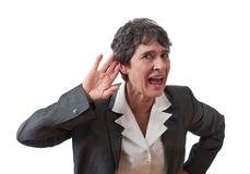 Une femme sourde dans Vive la retraite femme-d-affaires-sourde-18692642